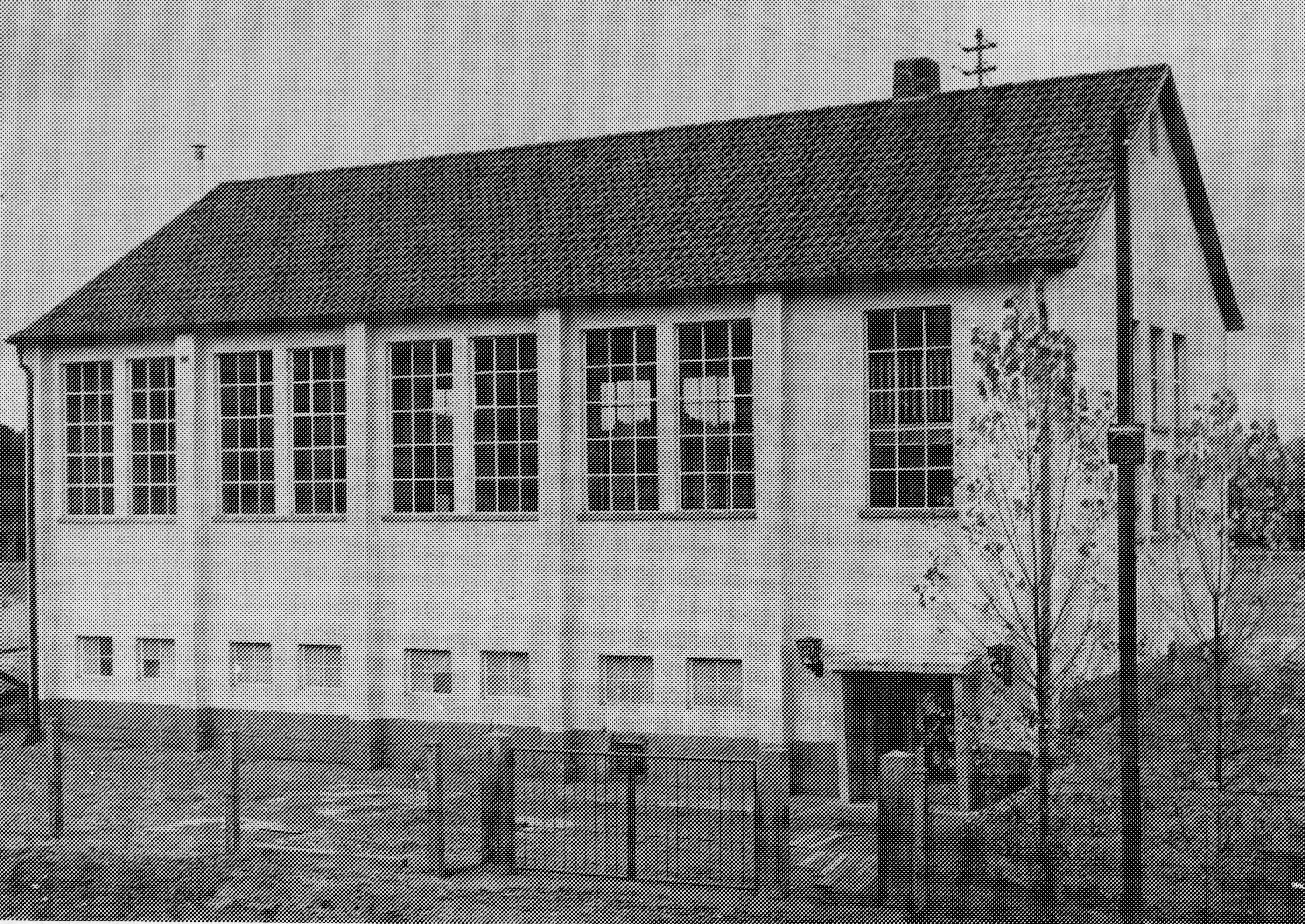 Die Vereinshalle 1956